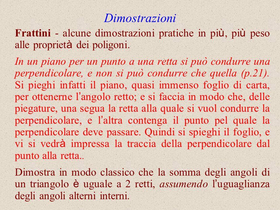 Dimostrazioni Frattini - alcune dimostrazioni pratiche in più, più peso alle proprietà dei poligoni.