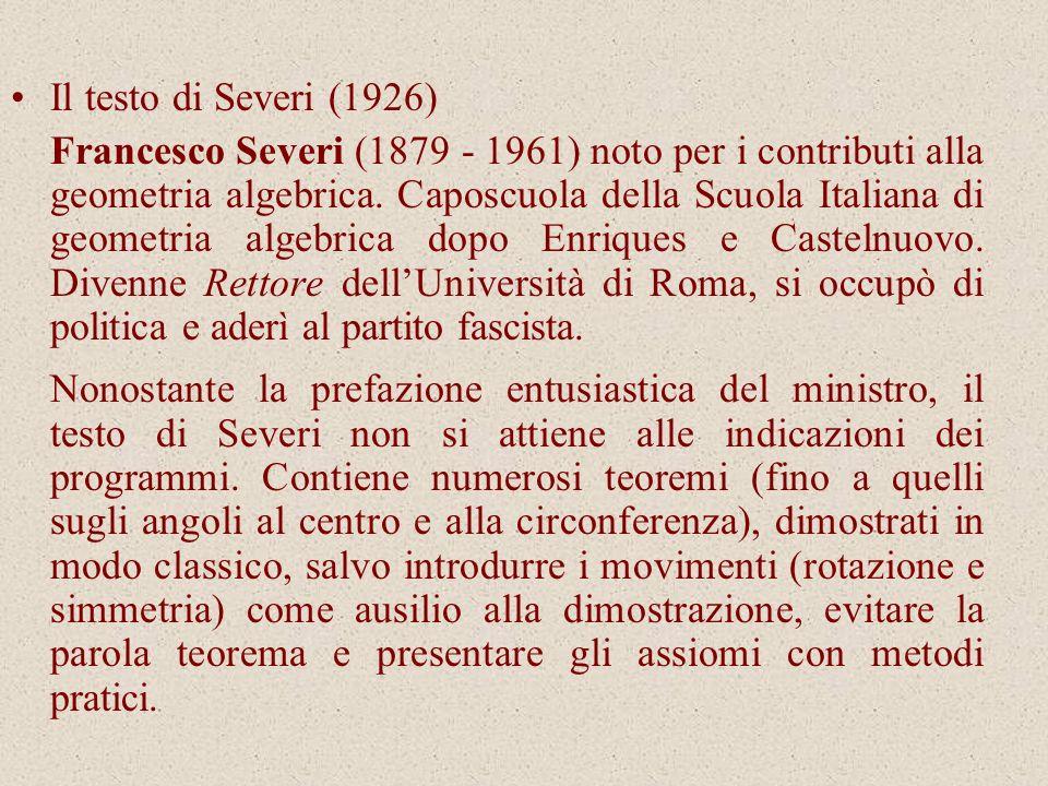 Il testo di Severi (1926)
