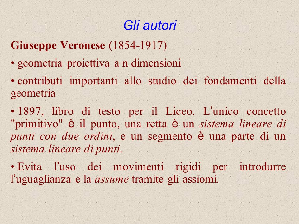 Gli autori Giuseppe Veronese (1854-1917)