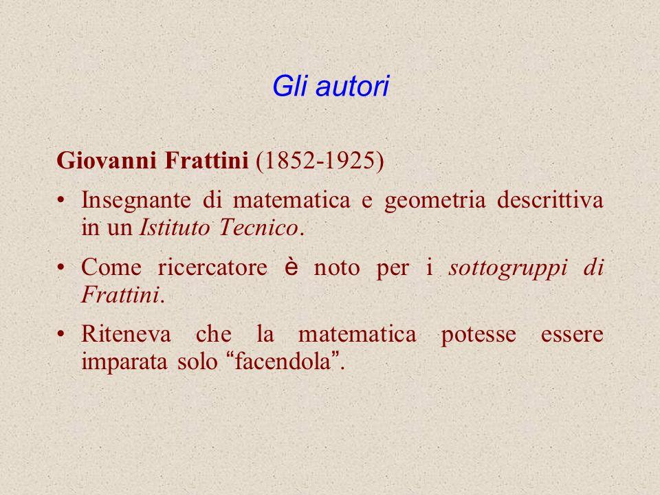 Gli autori Giovanni Frattini (1852-1925)