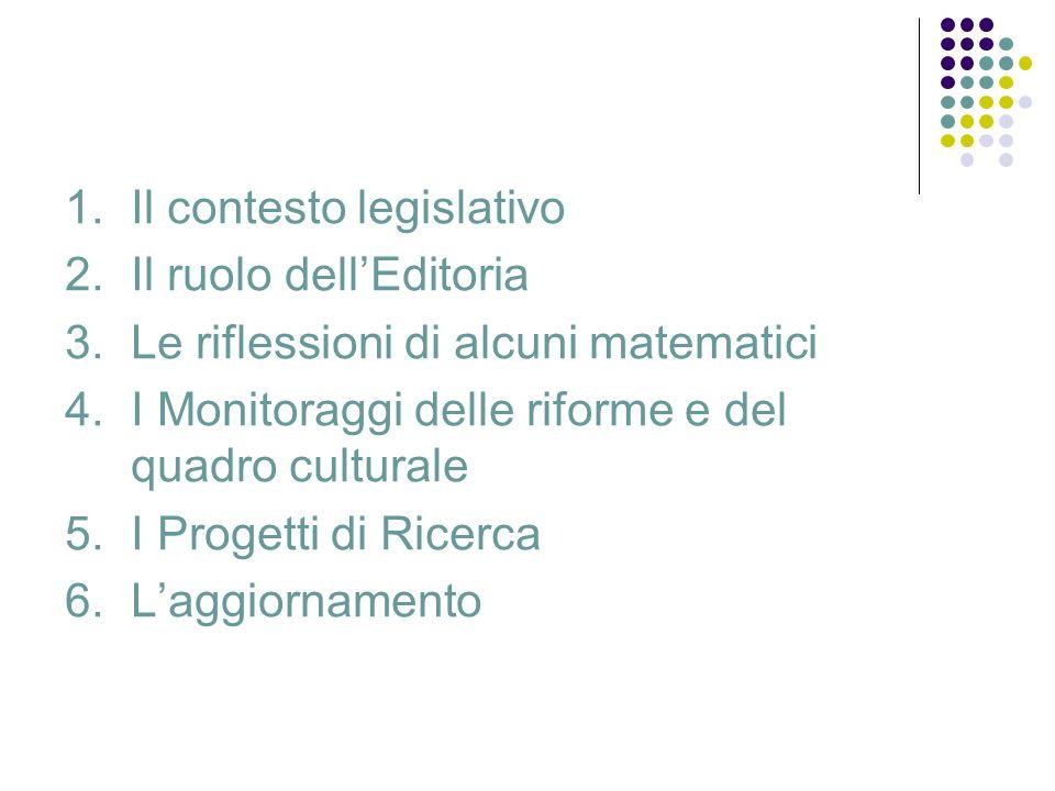 1. Il contesto legislativo