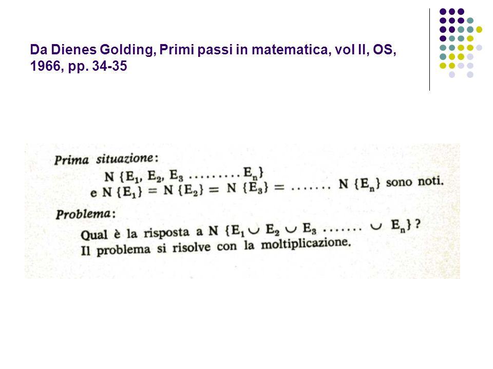 Da Dienes Golding, Primi passi in matematica, vol II, OS, 1966, pp