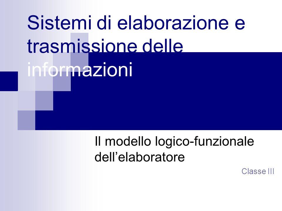 Sistemi di elaborazione e trasmissione delle informazioni