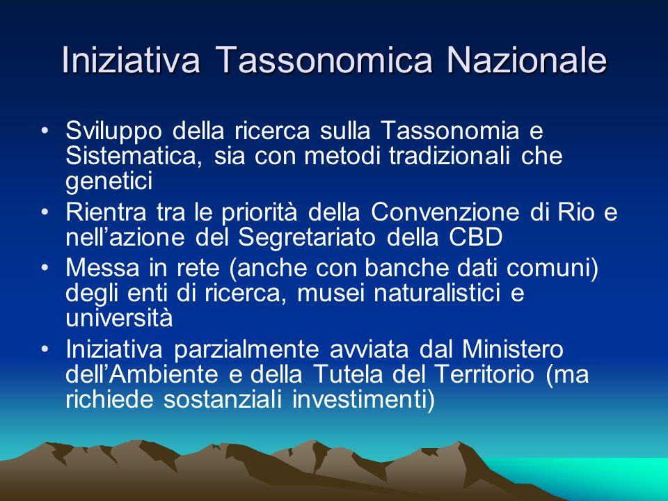 Iniziativa Tassonomica Nazionale