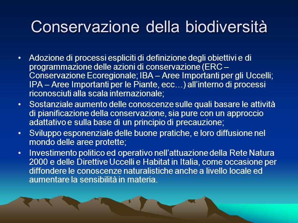 Conservazione della biodiversità