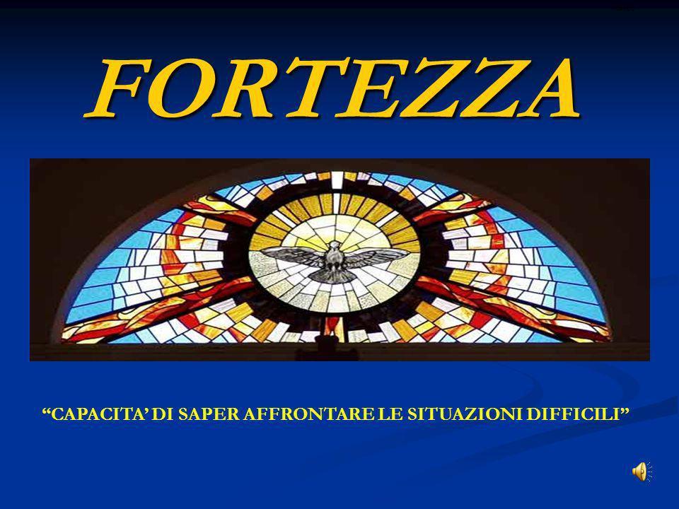 FORTEZZA CAPACITA' DI SAPER AFFRONTARE LE SITUAZIONI DIFFICILI