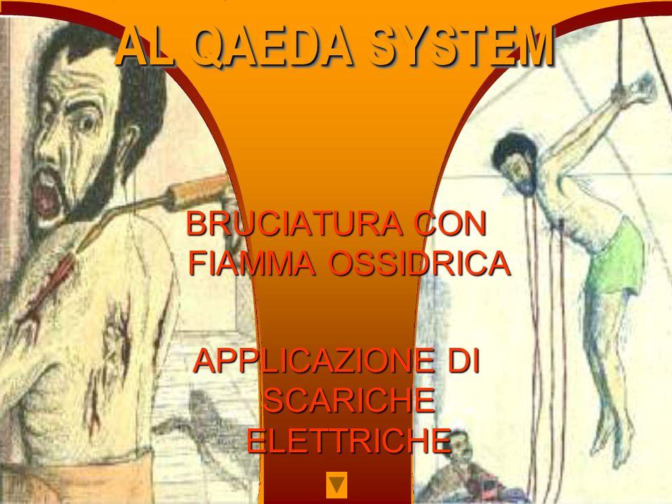 AL QAEDA SYSTEM BRUCIATURA CON FIAMMA OSSIDRICA
