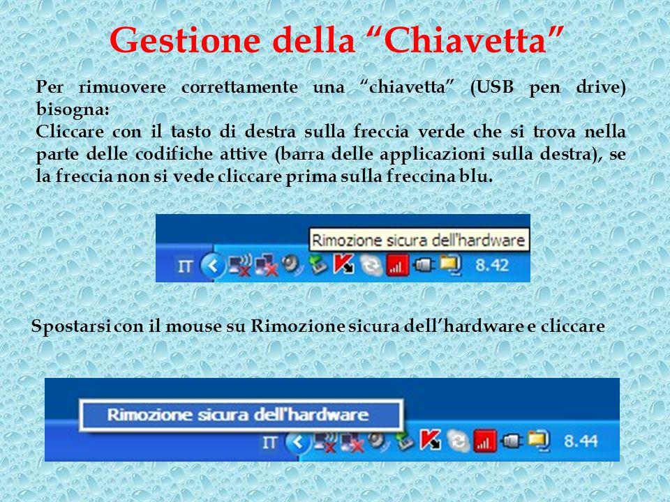 Gestione della Chiavetta