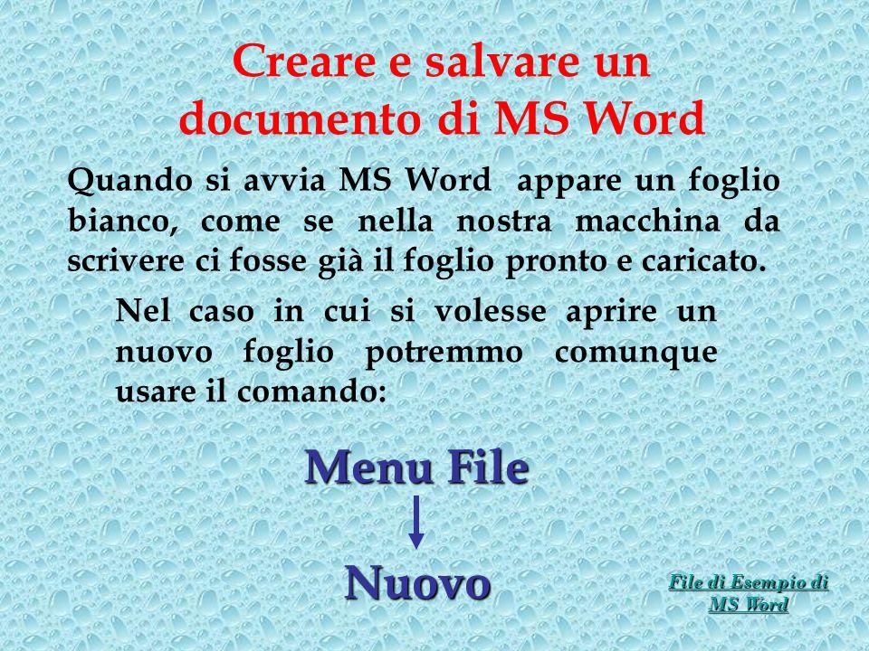 File di Esempio di MS Word
