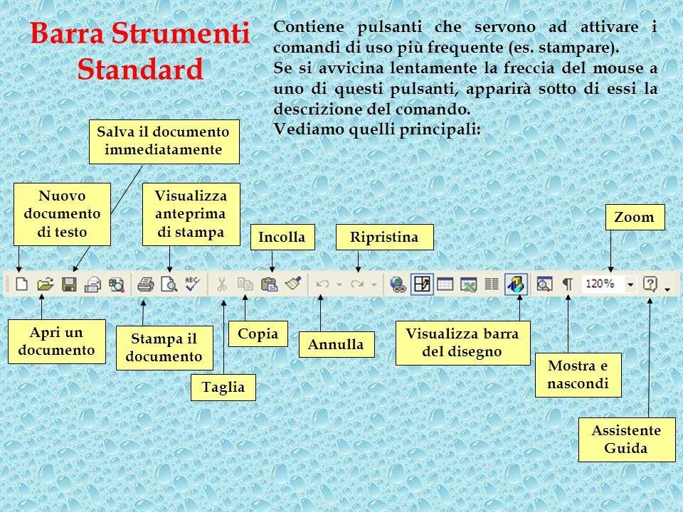 Barra Strumenti Standard