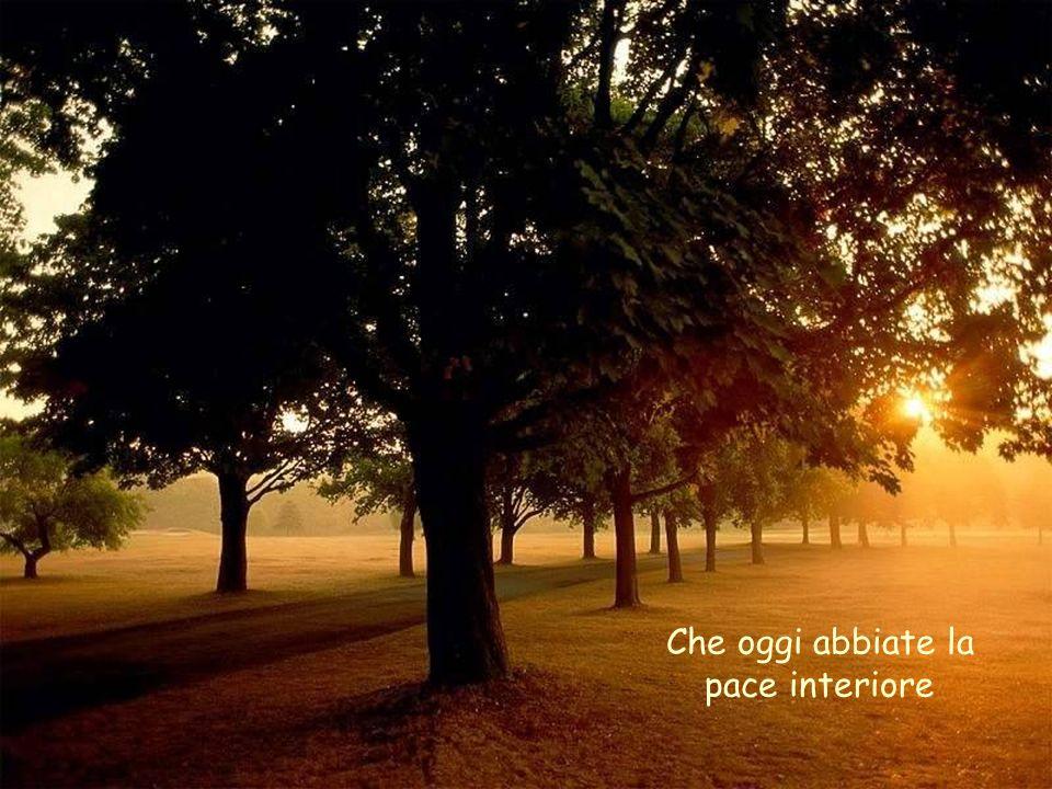 Che oggi abbiate la pace interiore