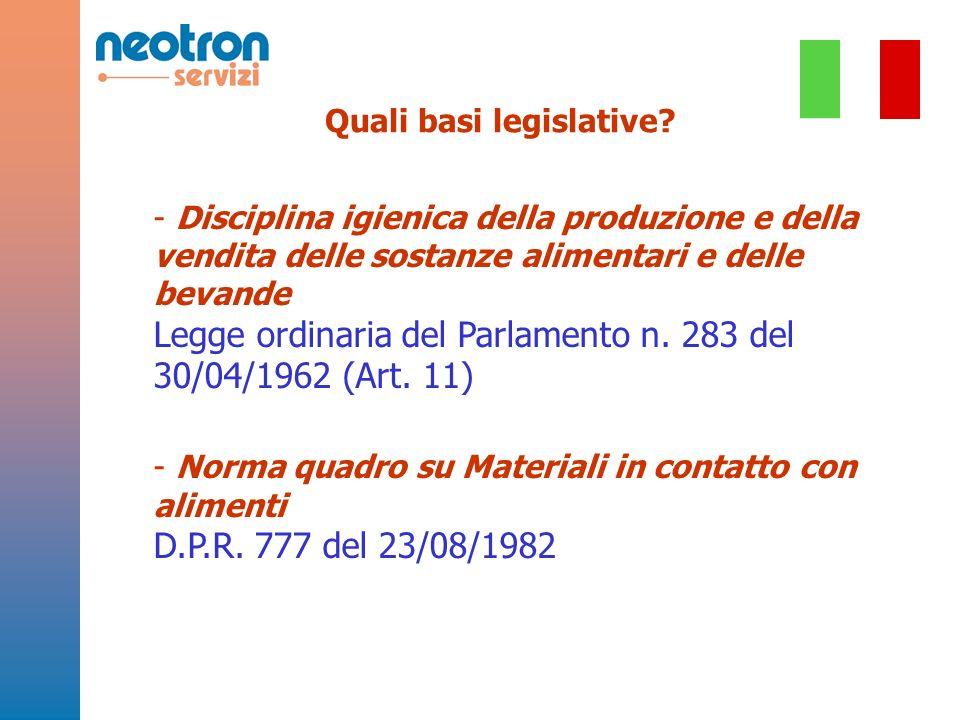 Quali basi legislative