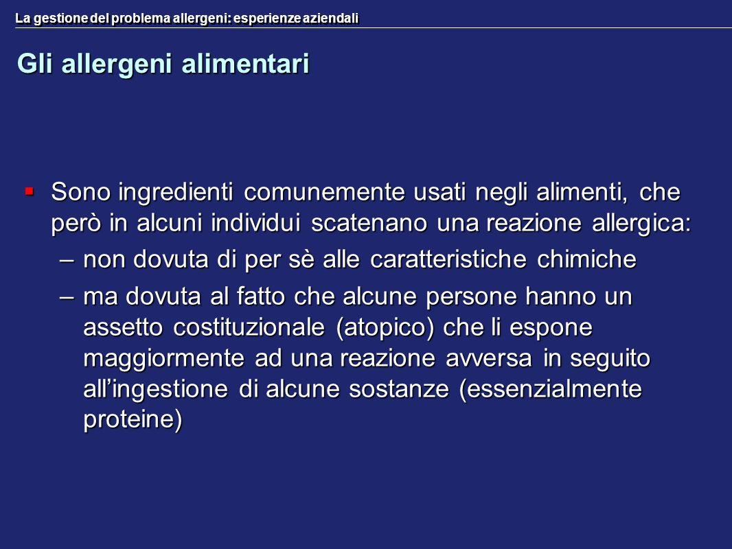 Gli allergeni alimentari