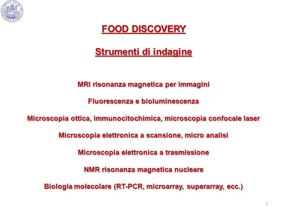 FOOD DISCOVERY Strumenti di indagine