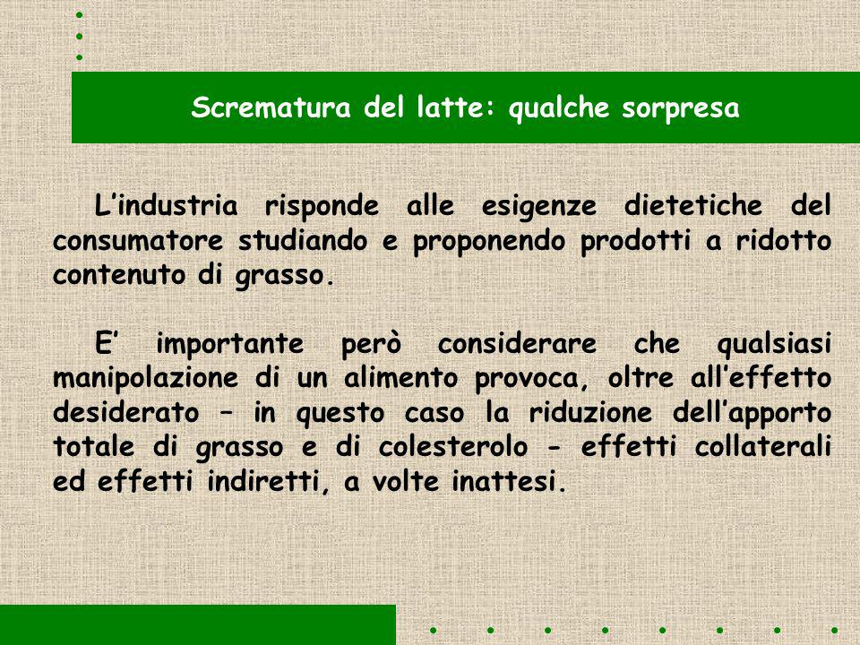 Scrematura del latte: qualche sorpresa