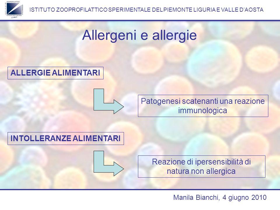 Allergeni e allergie ALLERGIE ALIMENTARI