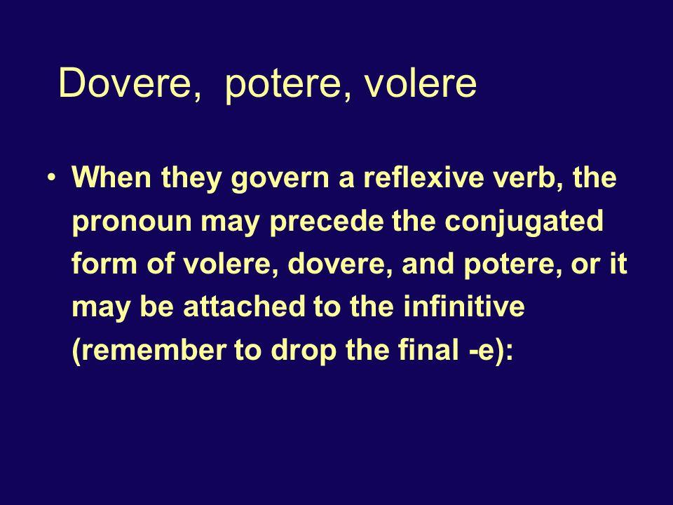 Dovere, potere, volere