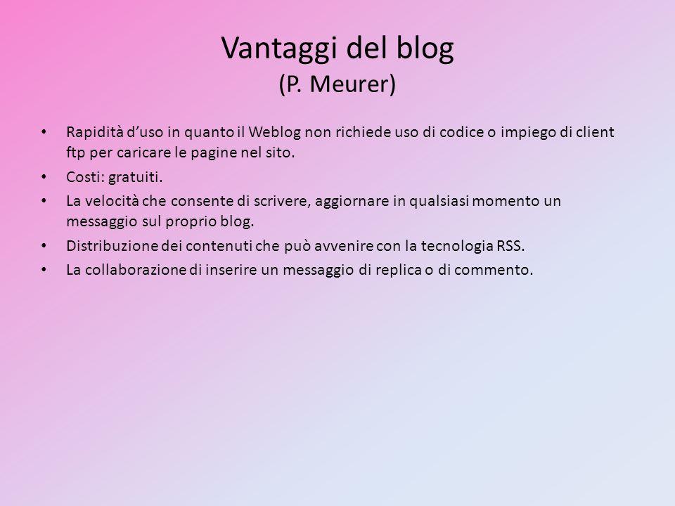 Vantaggi del blog (P. Meurer)