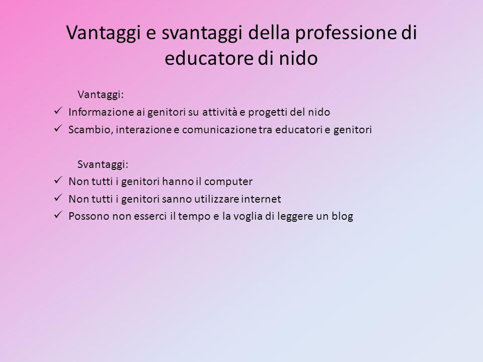 Vantaggi e svantaggi della professione di educatore di nido