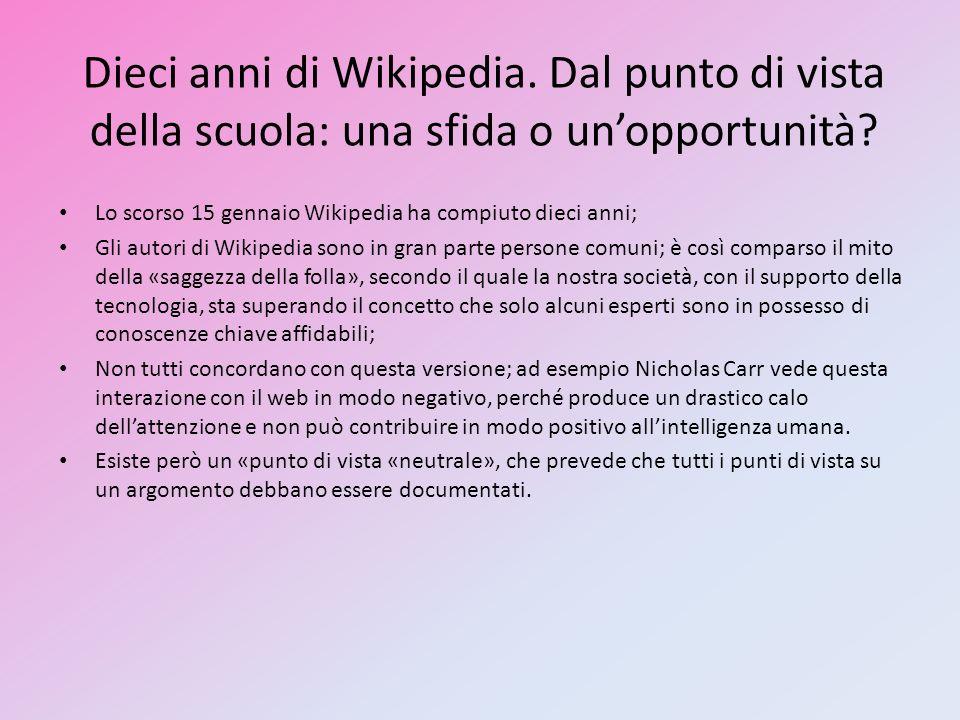 Dieci anni di Wikipedia