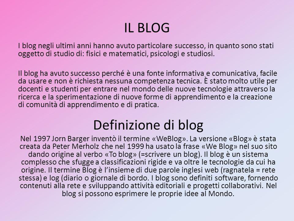 IL BLOG Definizione di blog