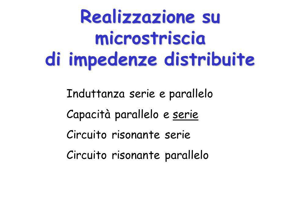 Realizzazione su microstriscia di impedenze distribuite