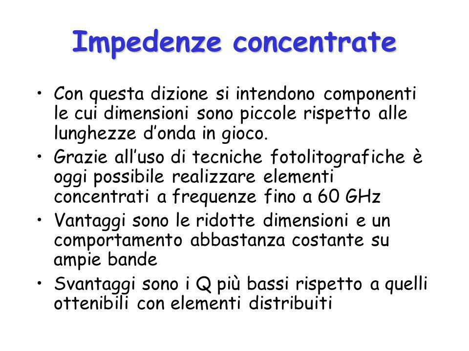 Impedenze concentrate