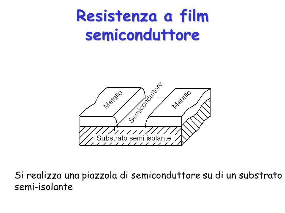 Resistenza a film semiconduttore