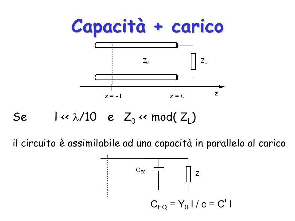 Capacità + carico Se l << /10 e Z0 << mod( ZL)