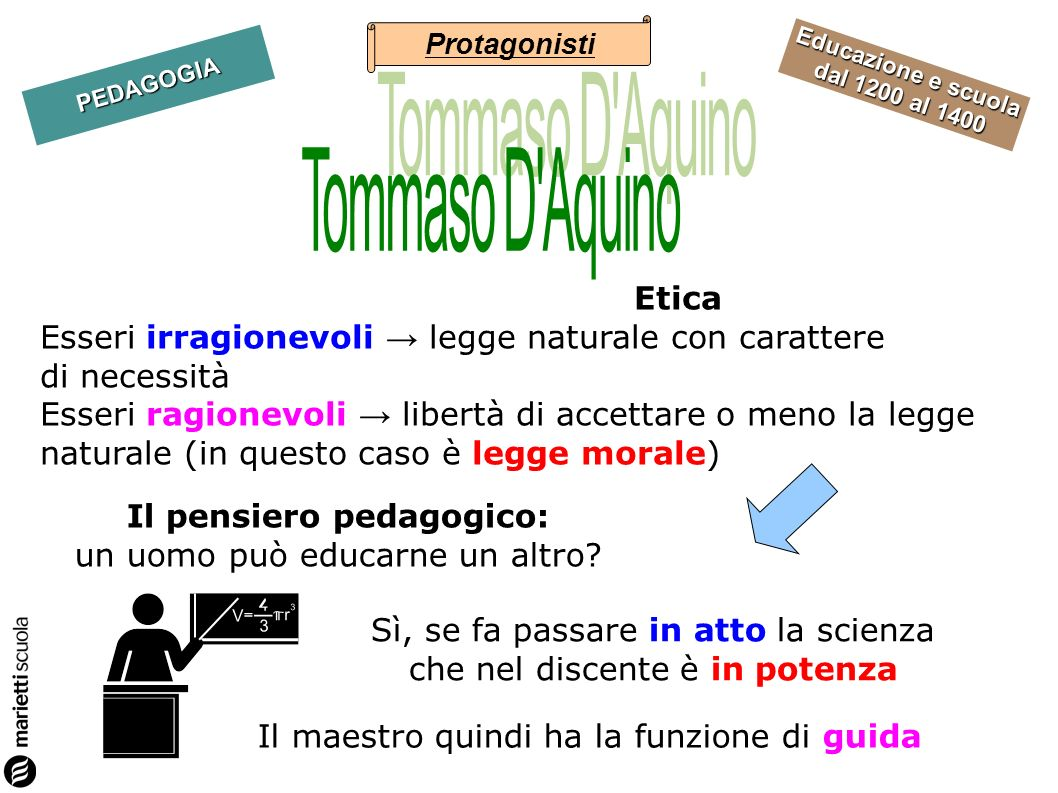 Protagonisti Tommaso D Aquino.