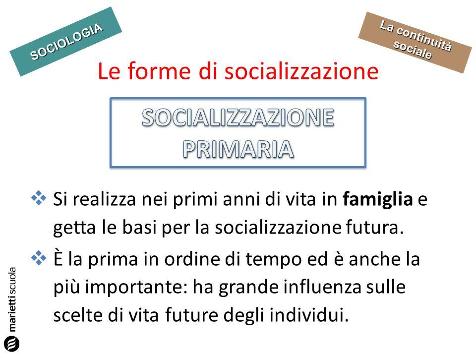 Le forme di socializzazione