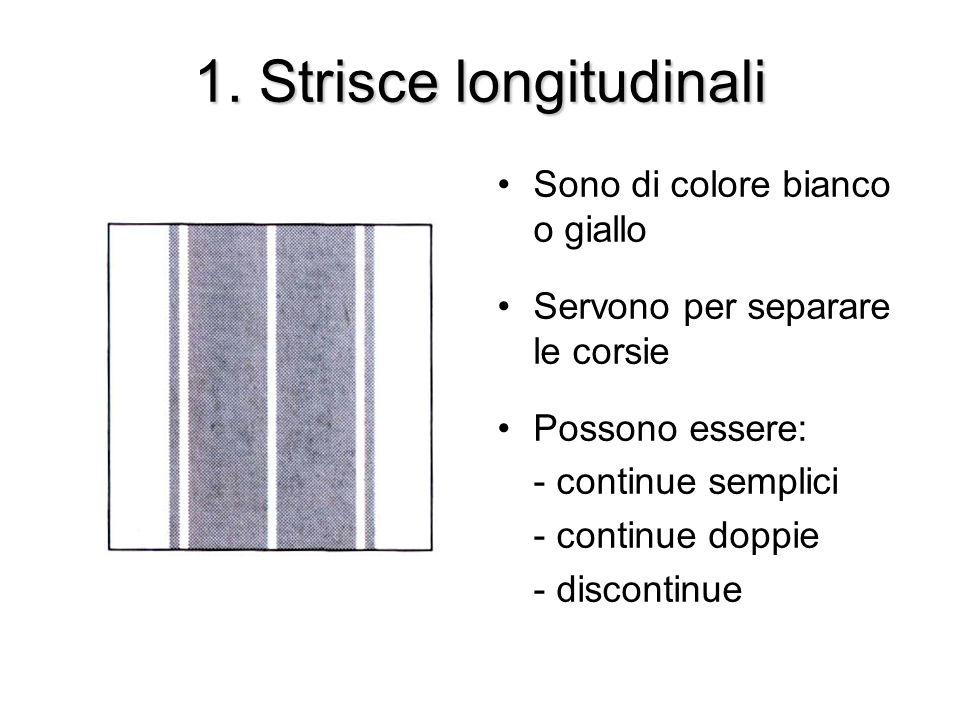 1. Strisce longitudinali