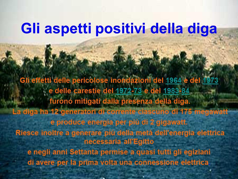 Gli aspetti positivi della diga