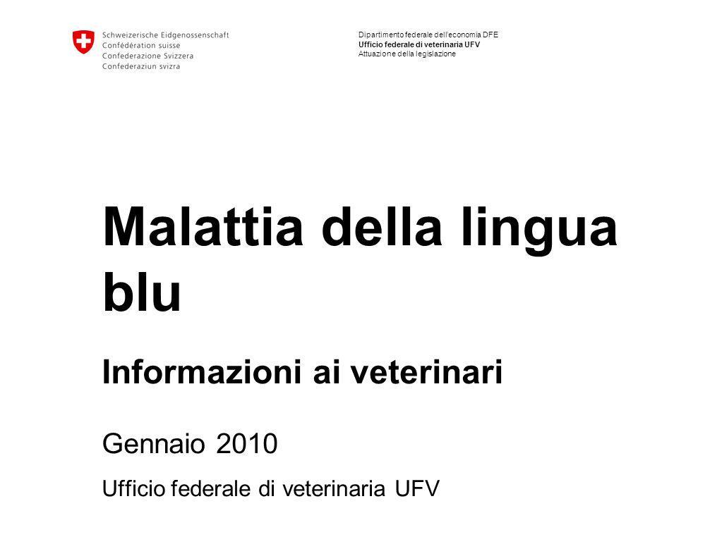 Malattia della lingua blu Informazioni ai veterinari