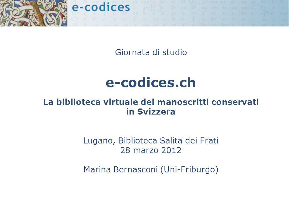 La biblioteca virtuale dei manoscritti conservati in Svizzera