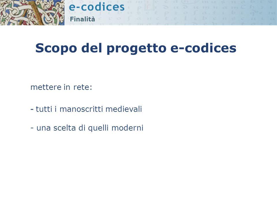 Scopo del progetto e-codices