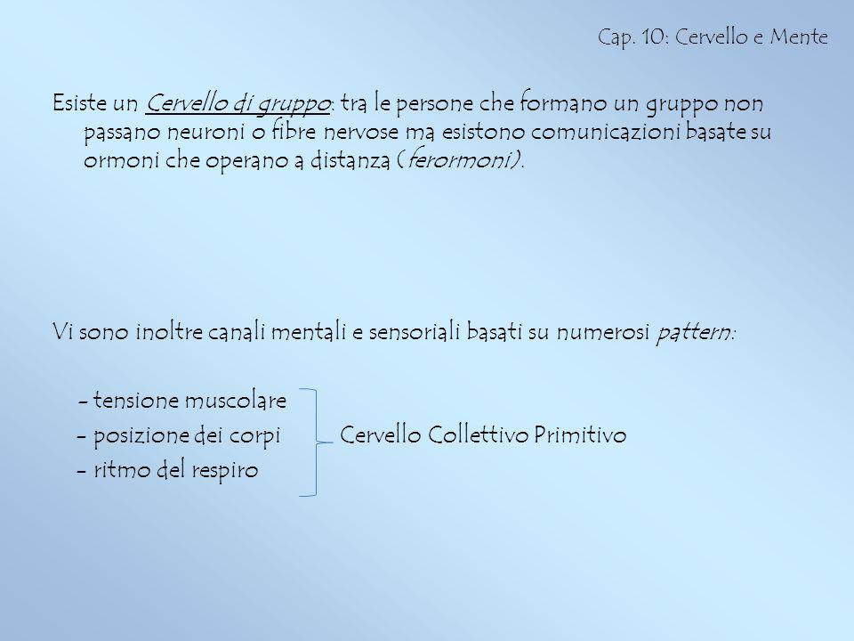 - posizione dei corpi Cervello Collettivo Primitivo