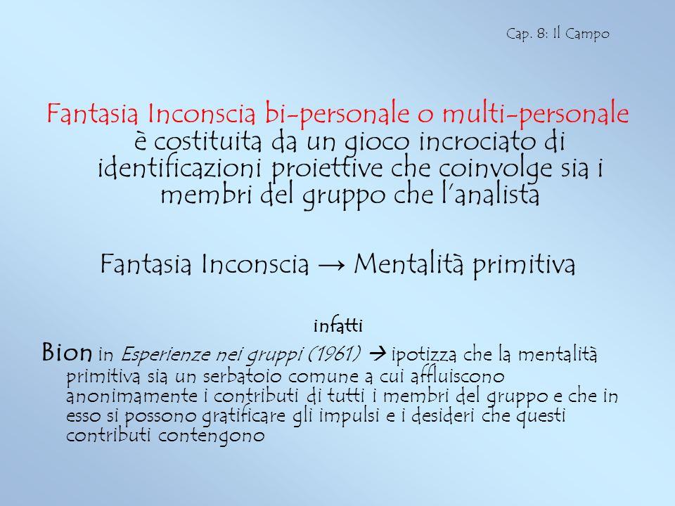 Fantasia Inconscia → Mentalità primitiva
