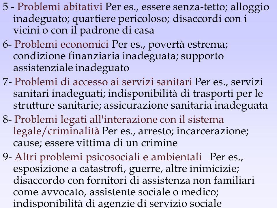 5 - Problemi abitativi Per es