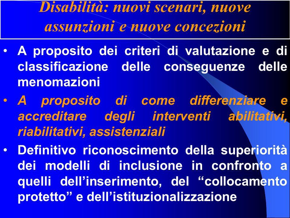 Disabilità: nuovi scenari, nuove assunzioni e nuove concezioni