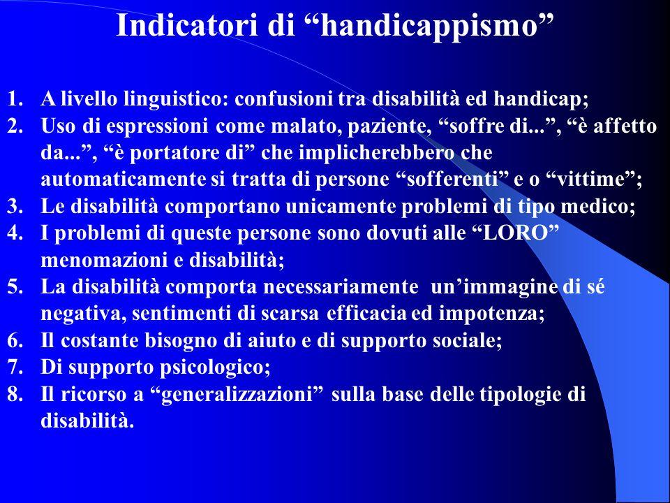 Indicatori di handicappismo