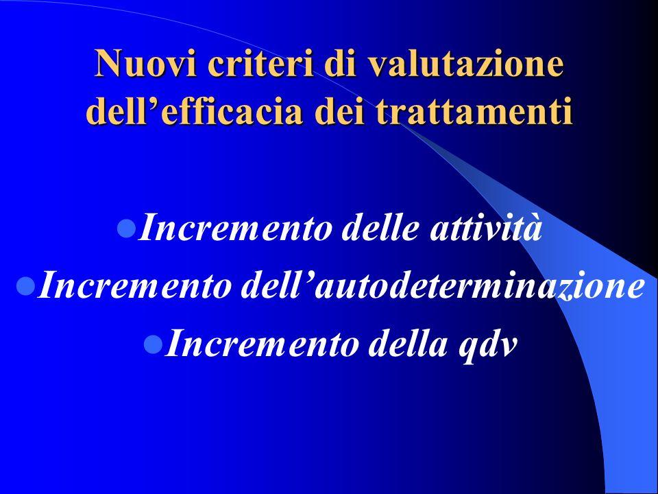 Nuovi criteri di valutazione dell'efficacia dei trattamenti