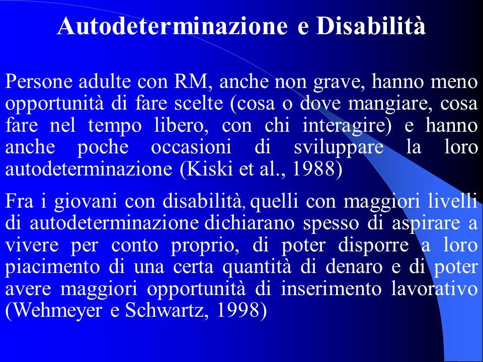 Autodeterminazione e Disabilità