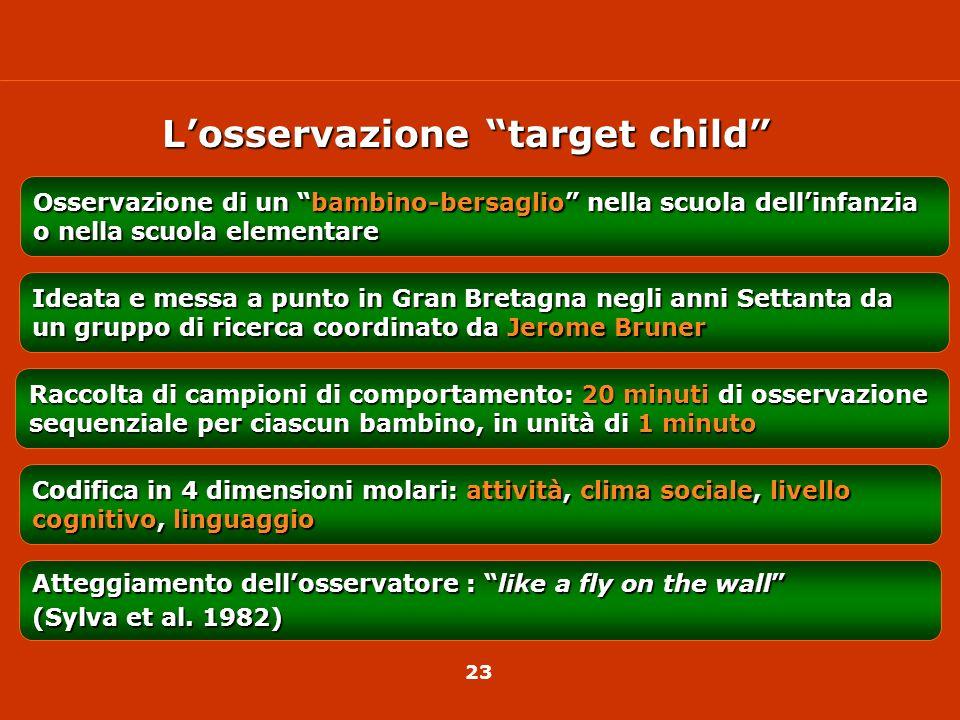 L'osservazione target child