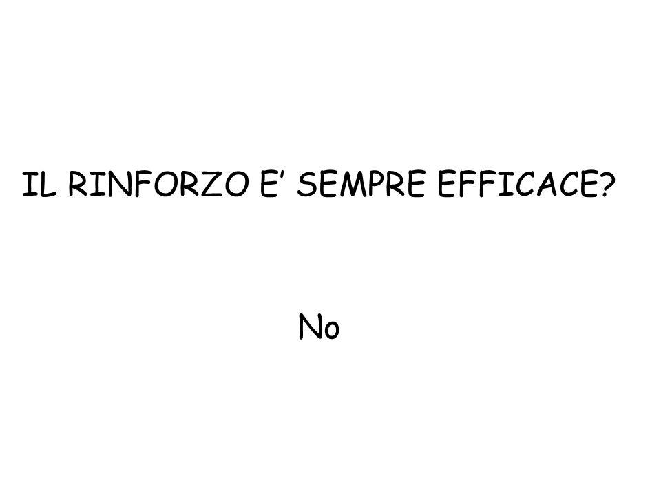 IL RINFORZO E' SEMPRE EFFICACE