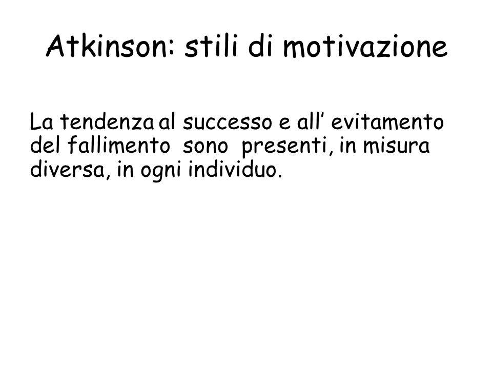 Atkinson: stili di motivazione