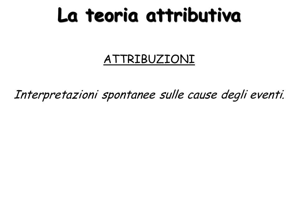 La teoria attributiva ATTRIBUZIONI