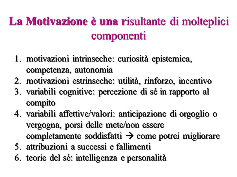 La Motivazione è una risultante di molteplici componenti