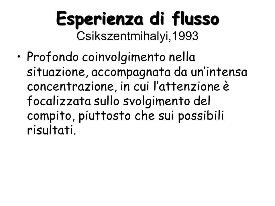 Esperienza di flusso Csikszentmihalyi,1993