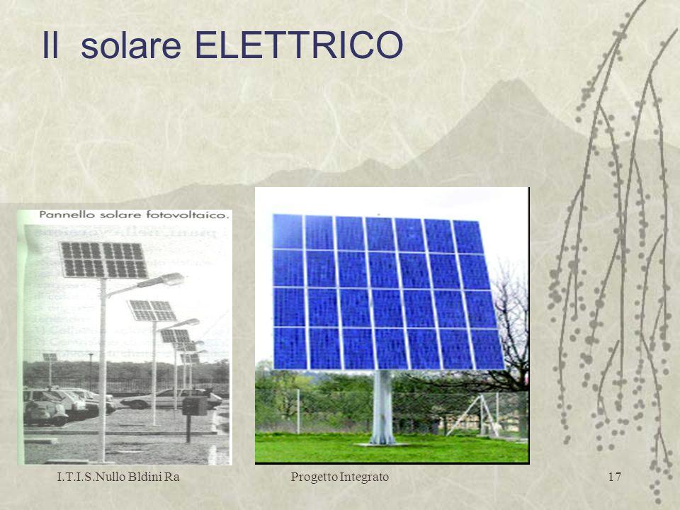 Il solare ELETTRICO I.T.I.S.Nullo Bldini Ra Progetto Integrato